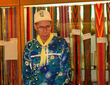 Grandpa Bob Austin American Indian Finger Weaving